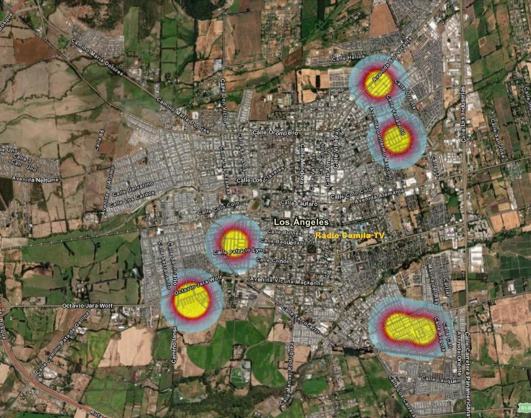 Seremi de Salud, actualizó el mapa de calor de mayor incidencia en Los Ángeles de casos Covid-19
